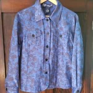 Susan Graver tapestry jean-style jacket